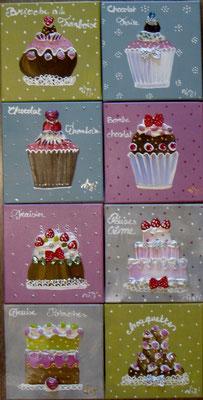 Jolis gâteaux 8x20x20