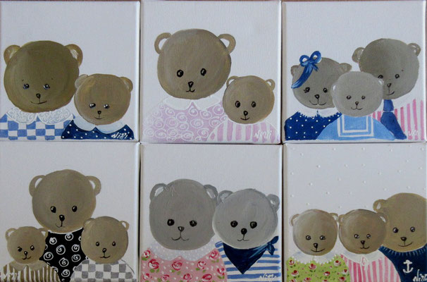 Famille ours 6x20x20 cm