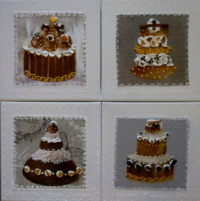 New cakes beiges 4x30x30