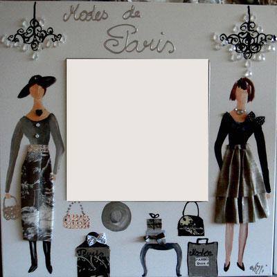 Modes de Paris miroir 60x60