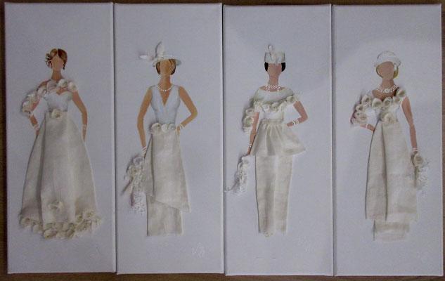 Mariées Blanc blanc 4x20x50 cm