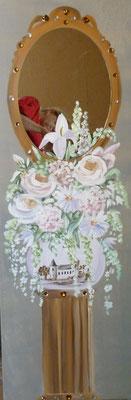 Fleurs blanches 120x40