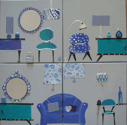 En bleu 4x30x30