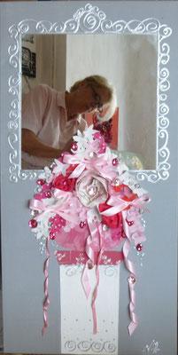 Bouquet et colonne rose 120x40
