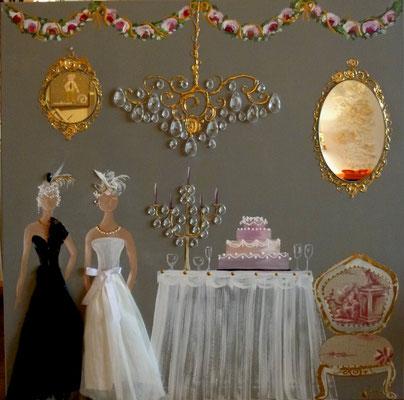Elegantes au banquet 80x80