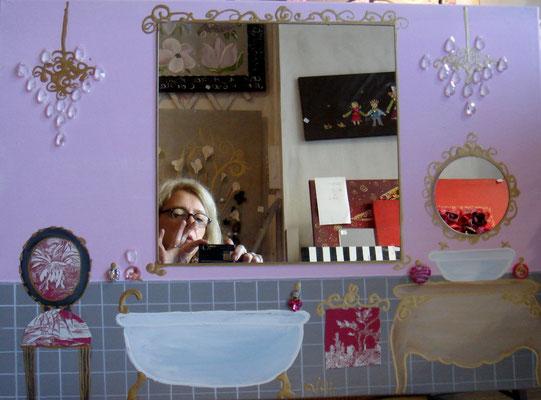 Petit bain rose 50x70