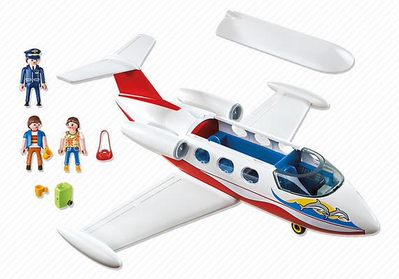 Playmobil - Avion avec pilote et touristes