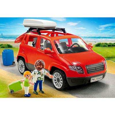 Playmobil - Voiture avec coffre de toit