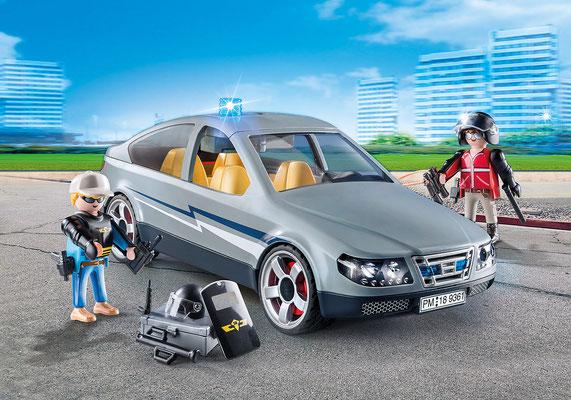 Playmobil - Voiture banalisée et policiers