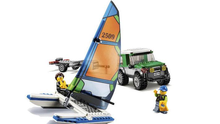Lego City - Le 4x4 avec catamaran
