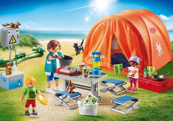 Playmobil - Tente et campeurs