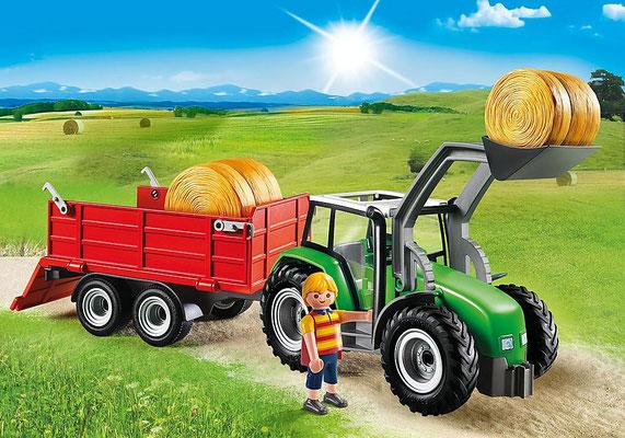 Playmobil - Grand tracteur avec remorque