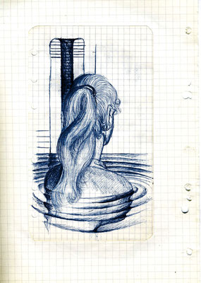 Tagebuchblätter 1965, Kugelschreiber auf Papier, 29 x 21 cm