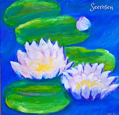 30 x 30 cm, Öl auf Leinwand, inspiriert durch Monet