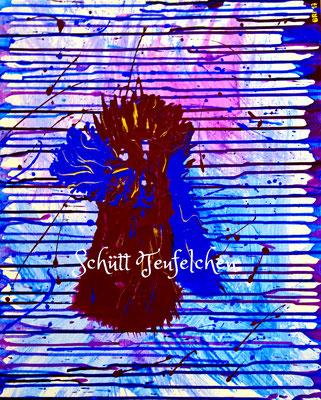 40 x 50 cm, Acryl auf Leinwand, inspiriert durch Nitsch