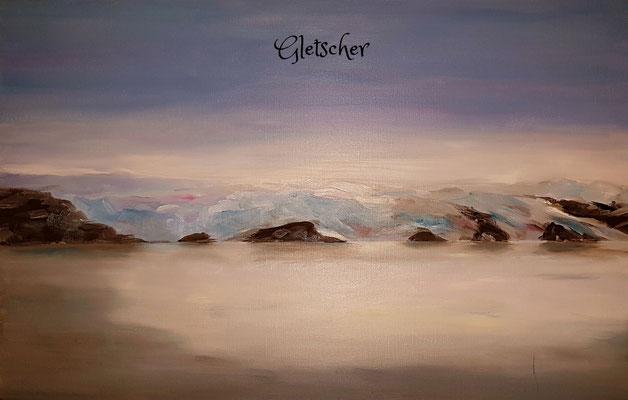 60 x 40 cm, Öl auf Leinwand, Spitzbergen