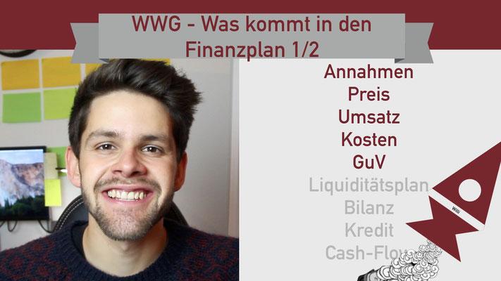 Willi will gründen: Finanzplan 1/2 Startup