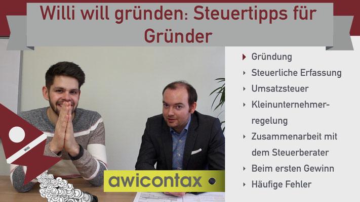Willi will gründen: Steuertipps für Gründer