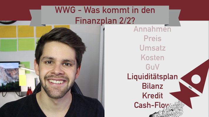 Willi will gründen: Finanzplan 2/2 Startup