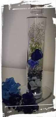 お客様の作品です。青が素敵ですね。