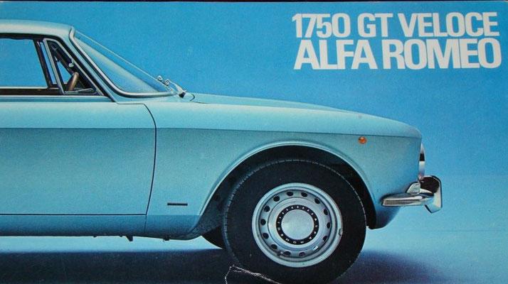 Alfa Romeo Prospekt-Titel 1750 GTV (Pressefoto Alfa Romeo)