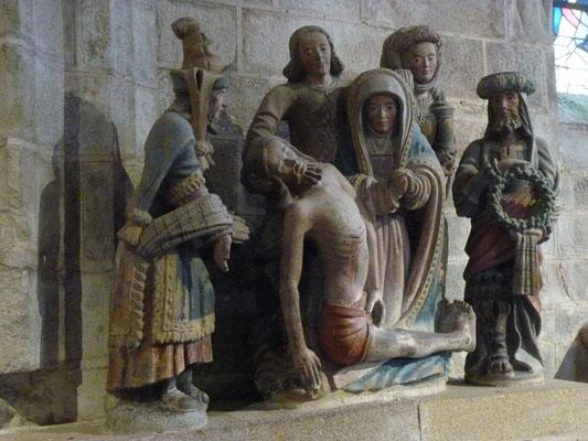 la Piéta dans l'église - Locronan