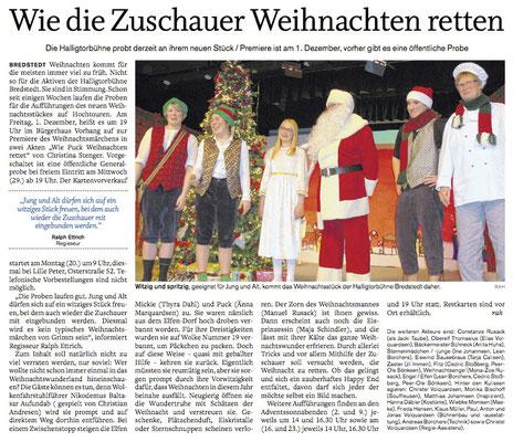 Husumer Nachrichten (18.11.2017)