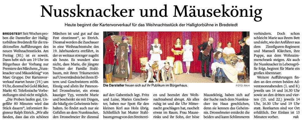 Husumer Nachrichten (19.11.2018)