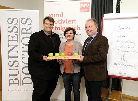 SWV-Präsident KR Karlheinz Winkler, NABg. Birgit Sandler, KR Willibald Mautner