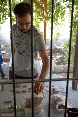 Danach erfolgt die Grobstatistik, hier ist Florian bei der Arbeit.