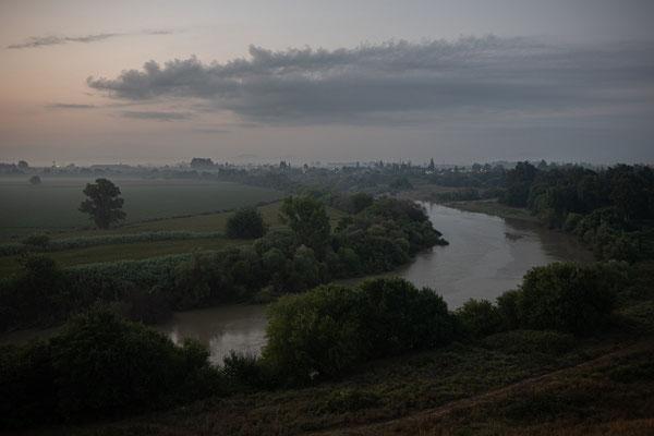 Blick auf den Fluss Ceyhan und das Dorf Sirkeli.
