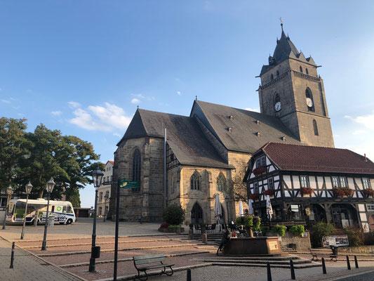 Wolfhagen - Blick auf den Markplatz