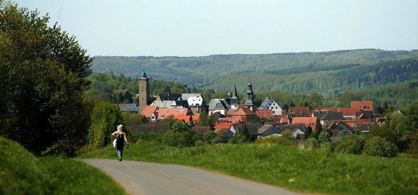 Steinau an der Straße - Die 2. Lebensstation der Brüder Grimm: Blick auf die Stadt