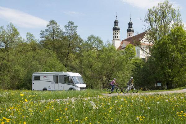 Reisemobiltour auf der Oberschwäbischen Barockstraße (© Oberschwaben Tourismus GmbH, Frank Müller)