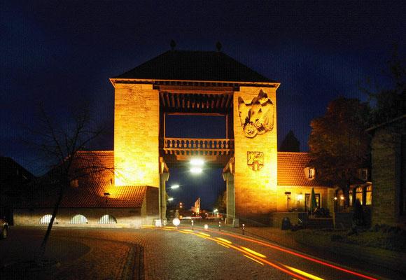 Deutsches Weintor bei Nacht  © Rolf Goosmann, Bildarchiv Südliche Weinstrasse e.V.