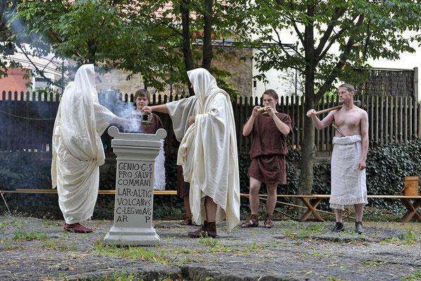 Römische Weihezeremonie © Römerstraße Neckar-Alb-Aare