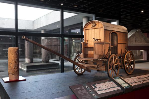 Römischer Reisewagen Römisch-Germanisches Museum, Köln (ACHTUNG: Das Museum ist zurzeit wegen Umbau geschlossen!) © Römisch-Germanisches Museum / Rheinisches Bildarchiv der Stadt Köln, A. Wegner