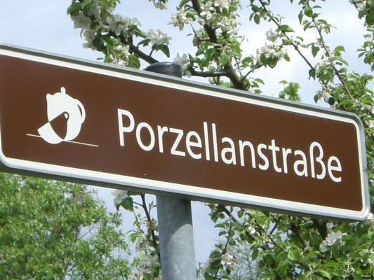 Beschilderung der Porzellanstraße © Verein Porzellanstraße e.V.