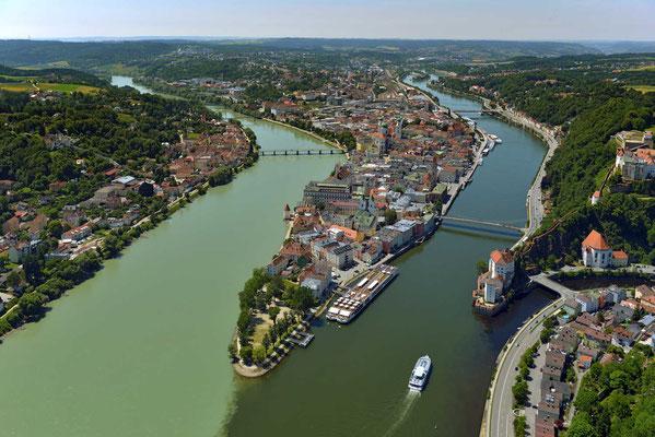 Passau Dreiflüsseeck © Hajo Dietz