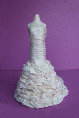 Reproduction miniature d'une robe de mariée - vue de face