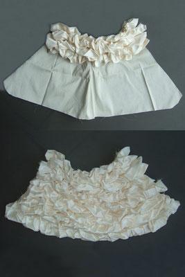 Reproduction miniature d'une robe de mariée - phase de construction 2