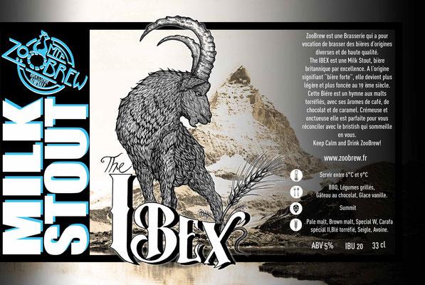 Ibex Milk Stout Montpellier ZooBrew Brasserie Animale