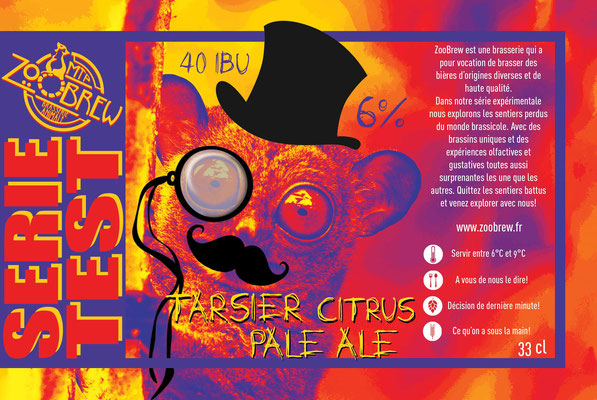 Tarsier Citrus Pale Ale California Ale Montpellier ZooBrew Brasserie Animale