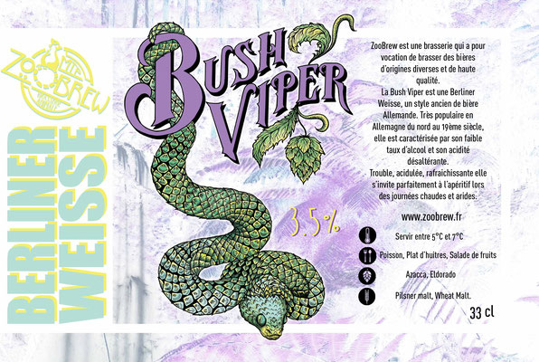 Bush Viper Berliner Weisse Montpellier ZooBrew Brasserie Animale