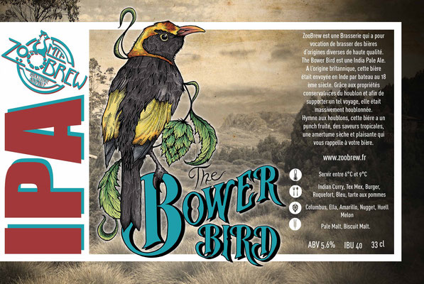 Bower Bird IPA Montpellier ZooBrew Brasserie Animale