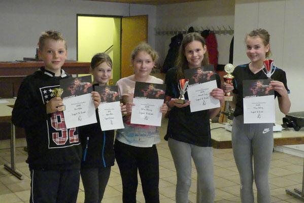 Die SiegerInnen bei der Jugend B...