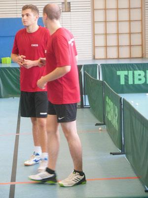 Unser Trainerteam am Wochenende, Christoph und Falko