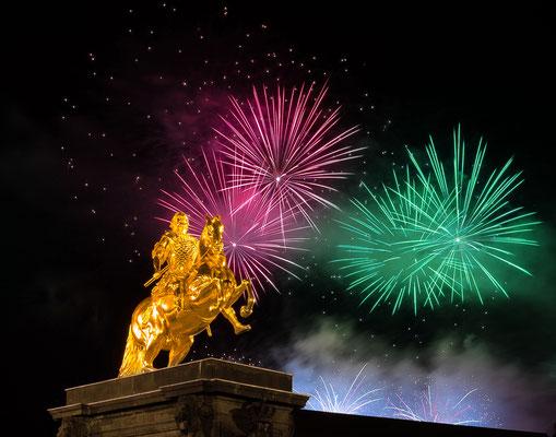 Der goldene Reiter, ein Abbild August des Starken.