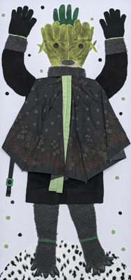 Erlkönigs Tochter,  65 x 140 cm, Materialbild 2014, Preis: 900 Euro