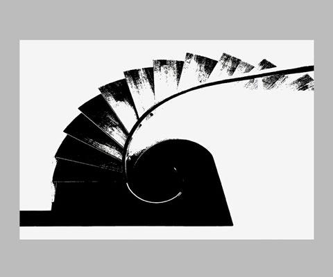 TREPPE_02  FineArt-Print, 53 x 36 cm, mit Passepartout und Rahmen 60 x 50 cm, Preis: 490 Euro